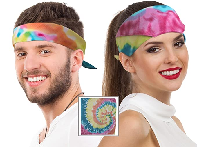 70s Headbands, Wigs, Hair Accessories Tie Dye Bandana Head Bandana Hippie Bandana Tye Dye Bandana Tye Dye Dog Tie Die $9.99 AT vintagedancer.com