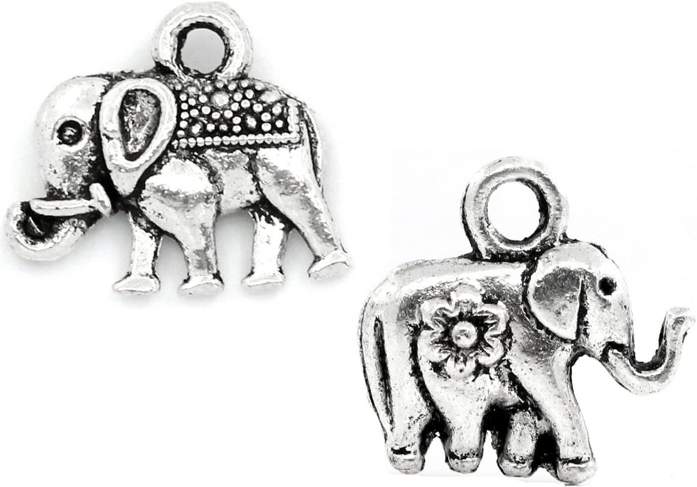 Lucky 7 Elephant charm Elephant pendants Elephant Necklace  SP18 sterling silver Jewelry Supplies