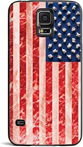 Inspired Cases - 3D Textured Galaxy S5 Case - Rubber Bumper Cover - Protective Phone Case for Samsung Galaxy S5 - American Food Flag - Black