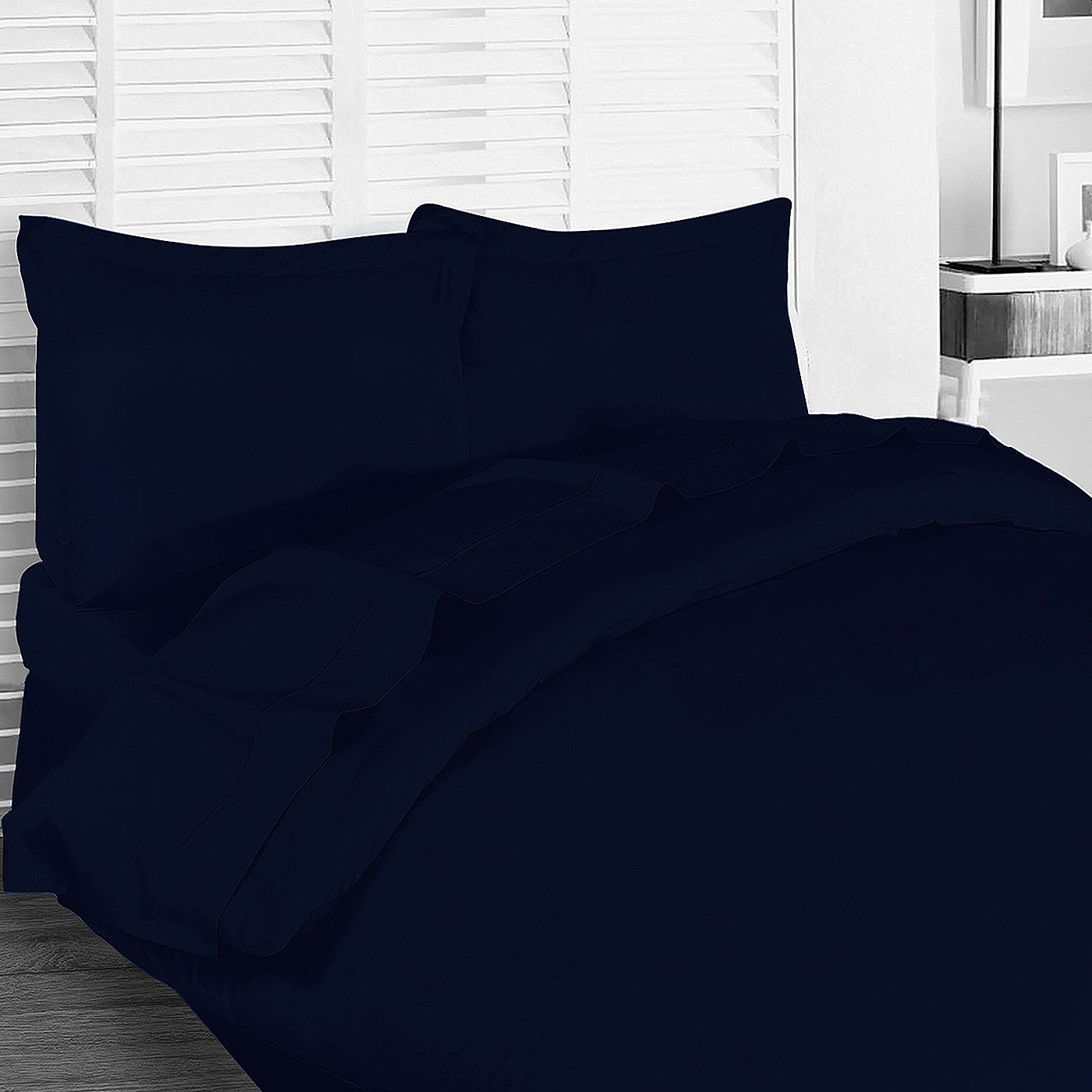 Utopia Bedding 3 Piece Queen Duvet Cover Set with 2 Pillow Shams, Navy