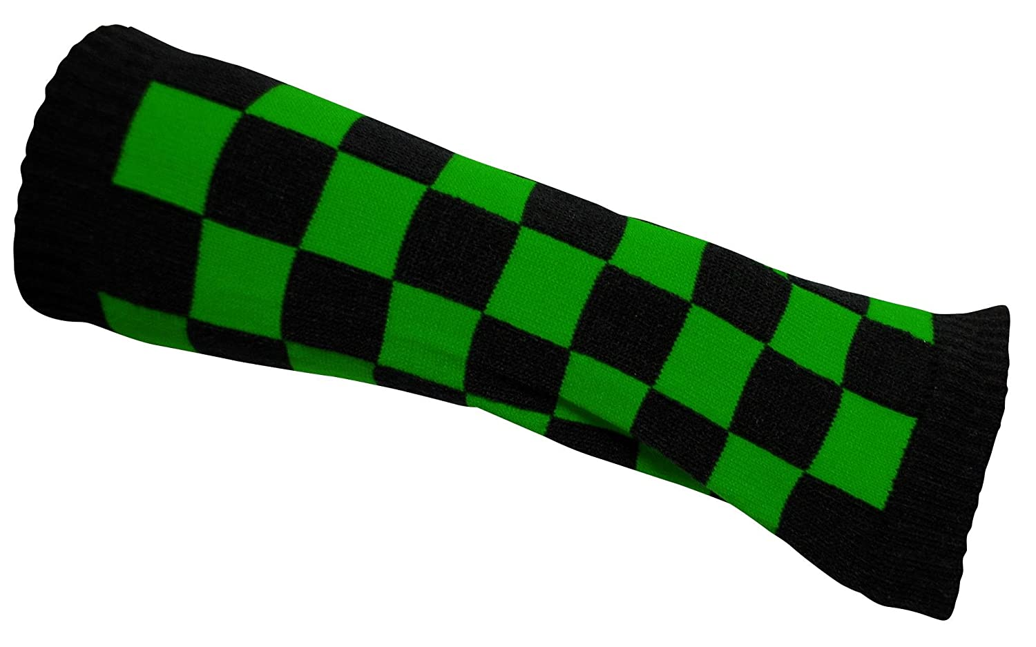 Arm warmers black and green checkered