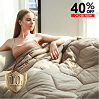 YEMYHOM 100% Cotton Adult Weighted Blanket with Glass Beads (48
