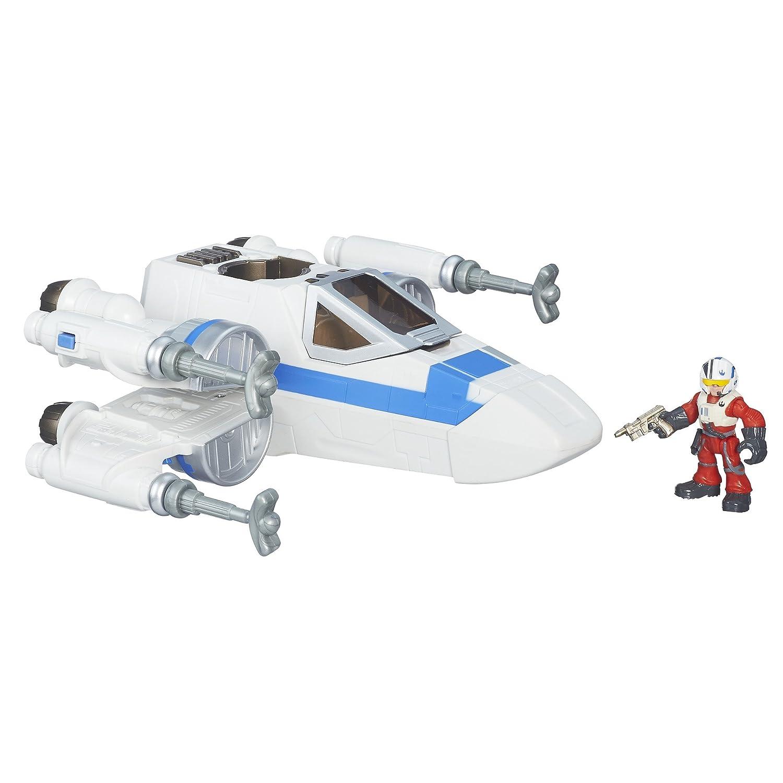 Star Wars Galactic Heroes RESISTANCE X-WING FIGHTER /& POE DAMERON Figure Hasbro