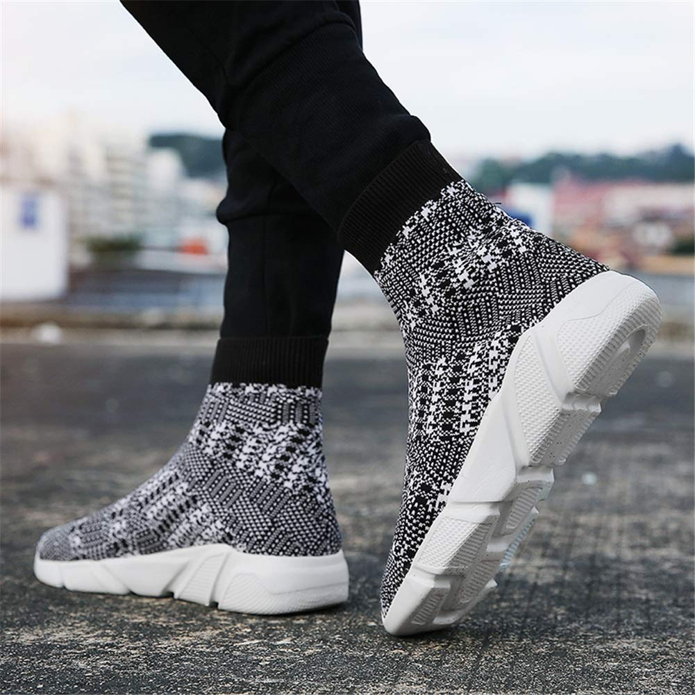 Fall Winter Womens High-top Socks Shoes Breathable Shoes High Shoes Thick Bottom Knit Comfortable and Wearable Mens Camouflage Elastic Socks Breathable Sneakers XUE Lovers Shoes