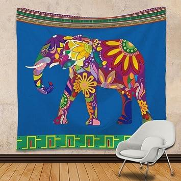 Amazon.de: Tapestry Bemalte Elefanten Wanddekoration Schlafzimmer ...