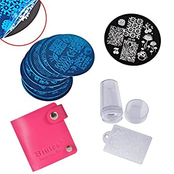 Amazon biutee 10 nail plates 1 stamper 1 scraper nail art biutee 10 nail plates 1 stamper 1 scraper nail art image stamp stamping plates manicure template prinsesfo Gallery