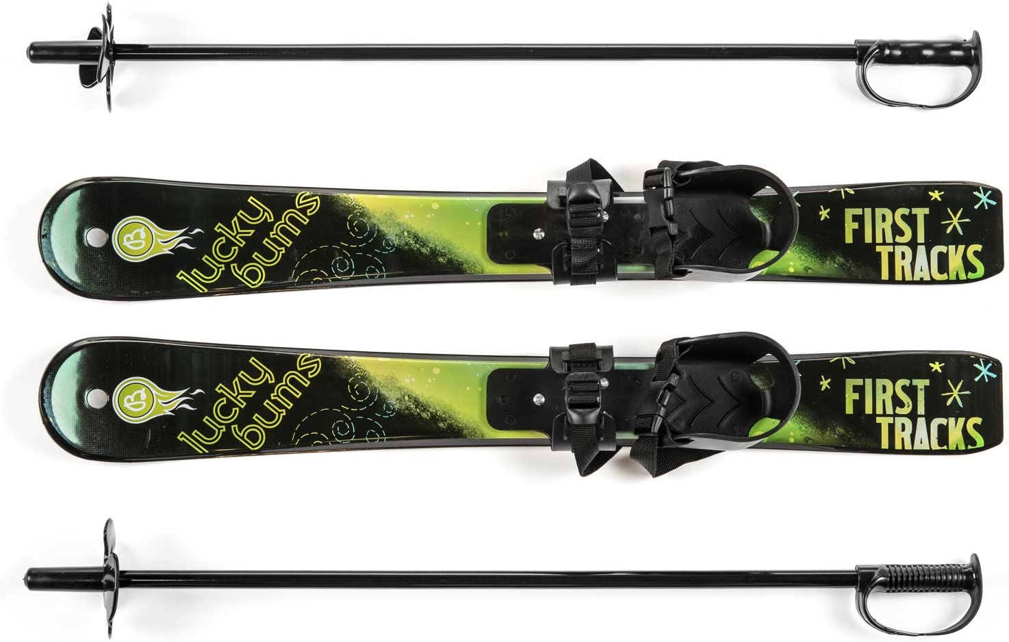 Lucky Bums Kids Beginner Snow Skis Without Poles 70cm