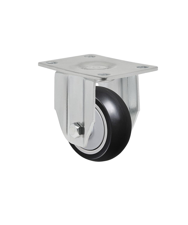 175 lbs 3 x 1-1//4 Rigid Caster FL 312 NPE Non-Marking Polypropylene Precision Ball Bearing Wheel Plate 3-1//8 x 4-1//8 Schioppa L12 Series Bolt Holes 3-1//8 x 2-1//4