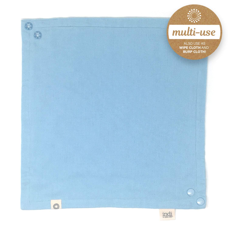 Multiuse Indi by Kishu Baby Premium Organic Bandana Scarf Bibs with Snaps Luxuriously Soft 100/% Cotton Muslin Solid Color Bib Rust
