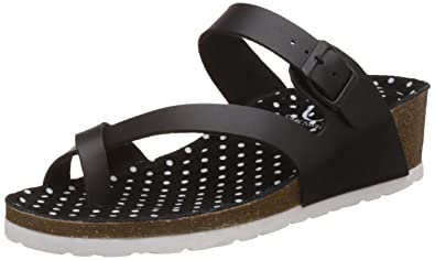21300177e4fae8 Carlton London CL Women s Paoline Black Fashion Sandals - 7 UK India (40 EU
