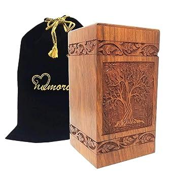 : Memorials4u Urna para cenizas (madera maciza