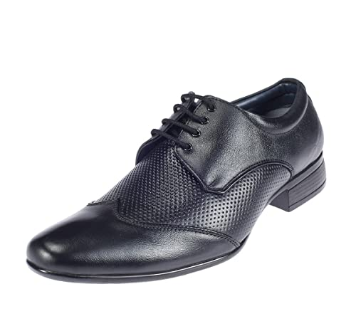 84e1e7bdee4 Lazard from Khadims Mens Black Leather Formal Shoes -10  Buy Online at Low  Prices in India - Amazon.in