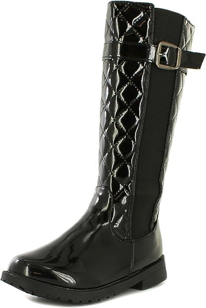 Calf Length Boots Black