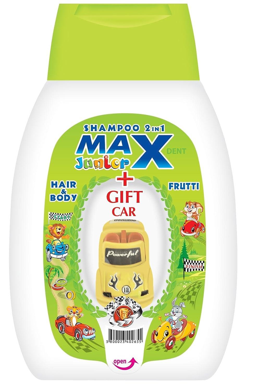 MAX-JUNIOR® - Champú y gel de baño para niños 2 en 1 - Con juguete de regalo - 250 ml - Frutal STS