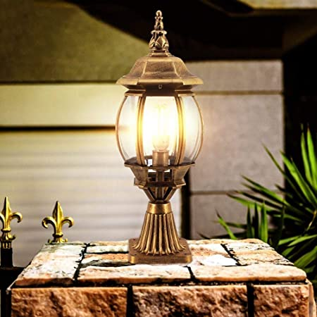 Amazon Com Libuty Outdoor Post Lights Black Bronze Column