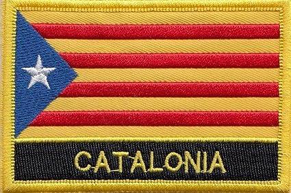 Cataluña Senyera Estelada bandera bordado rectangular parche Badge