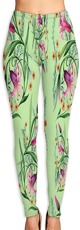 Mesk Pantalon de Yoga Femme,Modèle de Fleur d & # 39 ...