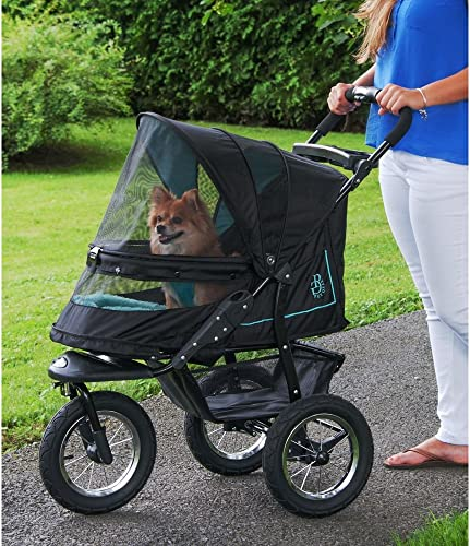 Pet Gear No-Zip NV Pet Stroller for Cats Dogs, Zipperless Entry, Easy One-Hand Fold, Air Tires, Plush Pad Weather Cover Included, Optional Divider