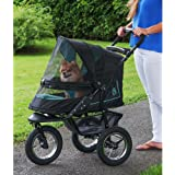 Pet Gear No-Zip NV Pet Stroller for Cats/Dogs, Zipperless Entry, Easy One-Hand Fold, Air Tires, Plush Pad + Weather…