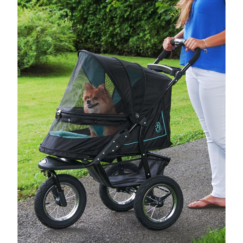 Pet Gear No-Zip NV Pet Stroller for Cats/Dogs, Zipperless Entry, Easy One-Hand Fold, Air Tires, Plush Pad + Weather Cover Included, Optional Divider by Pet Gear