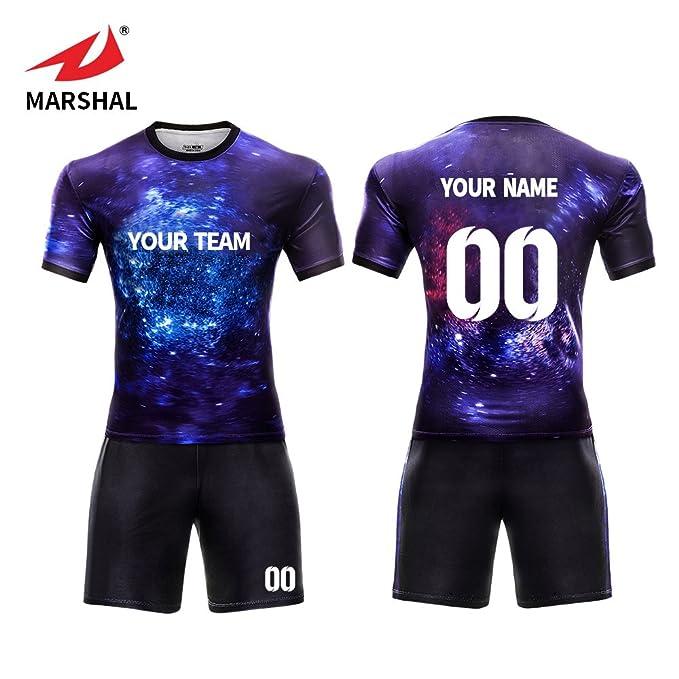 c58fd5fe9e3c0 Marshal Jersey personalizado Futbol Jeseys Set uniformes tu nombre tu  número (S