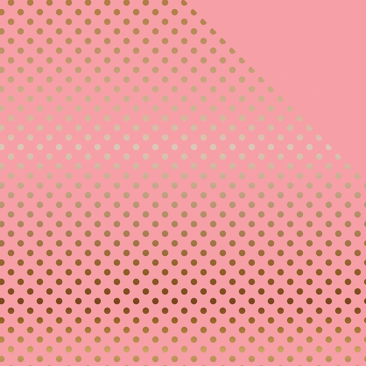 Echo Park Paper DS16032 Foiled Dots & Stripes Cardstock (15 Sheets Per Pack), 12 x 12, Pink/Copper by Echo Park Paper B01CUY4GQM