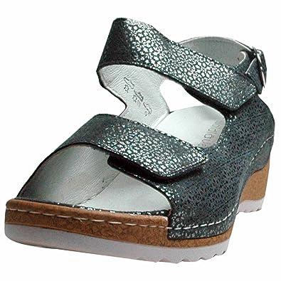 Rabatt zum Verkauf begehrteste Mode offiziell Waldläufer Damen Sandaletten Hanila 306002 117 013 grau 422753