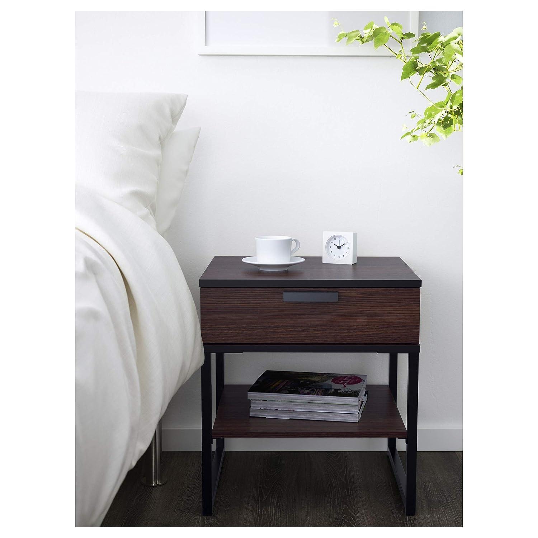 Amazon.com: IKEA.. 602.360.24 Trysil Nightstand, Dark Brown ...