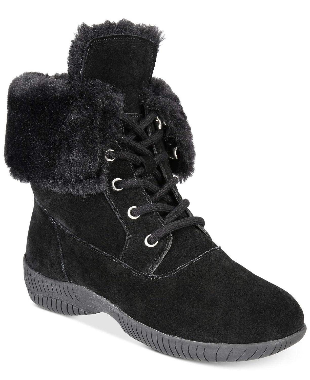 Style & Co. Frauen Angiee Runder Zeh Leder Kaltes Wetter Stiefel