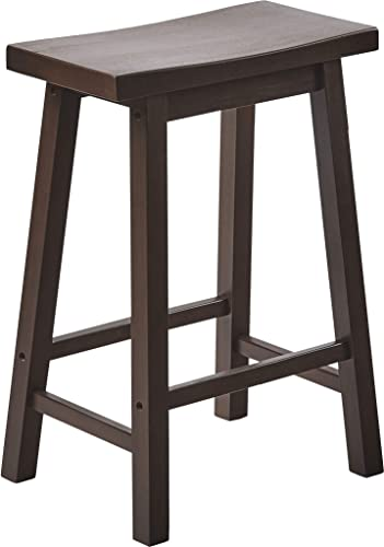 PJ Wood 24-Inch Saddle Seat Counter Stool