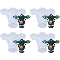 RAYNAG 4 Pack Cow Silicone Molds Resin Cattle Mould Animal Craft Keychain Pendant Mold, DIY Desserts Candy Chocolate…