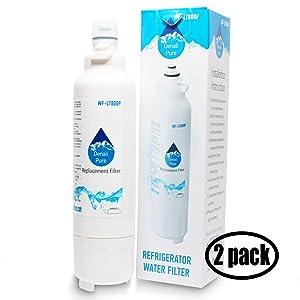 2-Pack Replacement LG LSXS26366S Refrigerator Water Filter - Compatible LG LT800P, ADQ73613401 Fridge Water Filter Cartridge