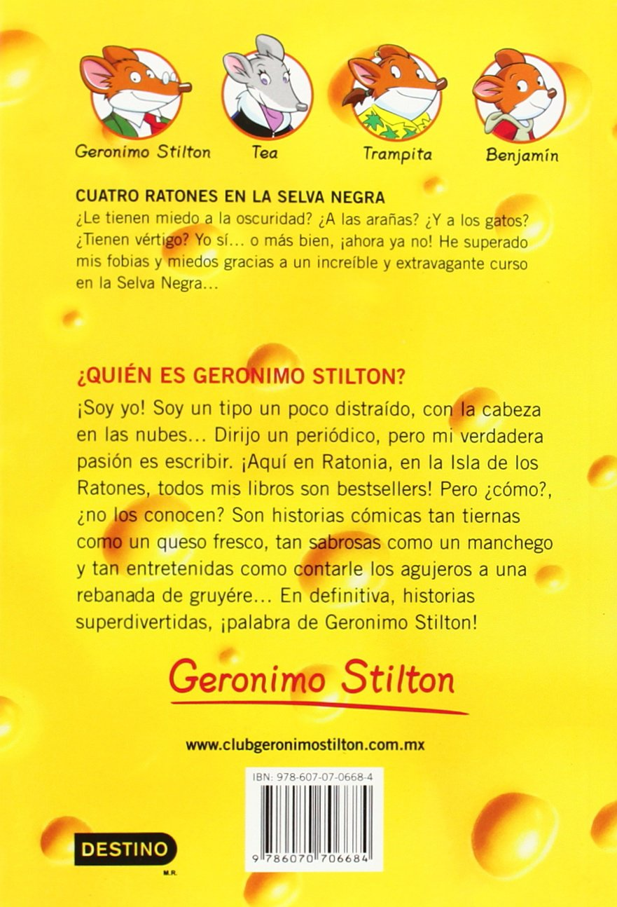 Cuatro Ratones En La Selva Negra / Four Mice in the Deep Jungle (Geronimo Stilton) (Spanish Edition): Geronimo Stilton: 9786070706684: Amazon.com: Books