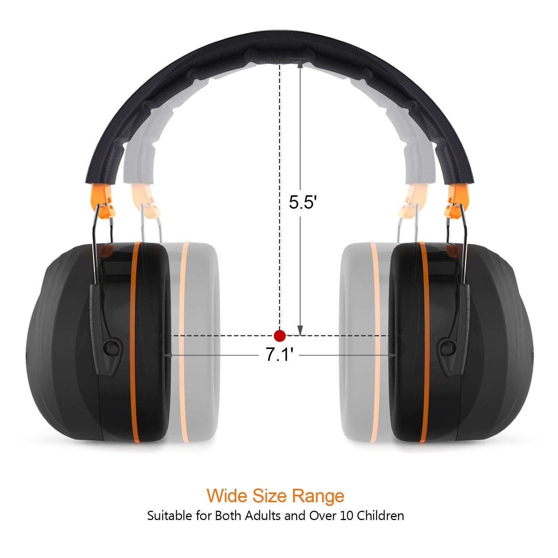 Tacklife Orejeras de Protecciš®n auditiva, con SNR de 34 dB y certificaciš®n CE, Ajustables y cš®Modas para Ni?os y Adultos, entornos ruidosos y para Cuando ...