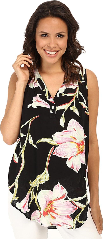 Karen Kane Women's Midnight Floral Sleeveless Top