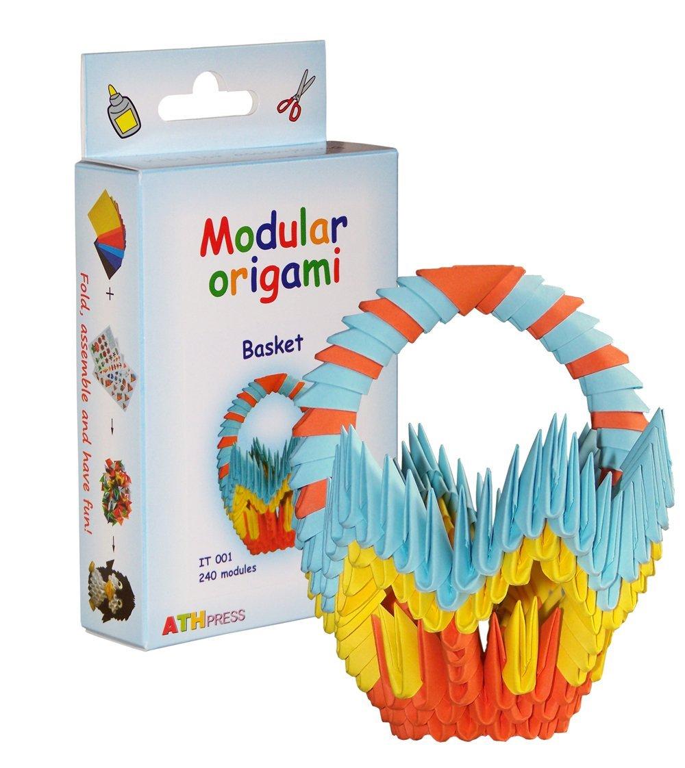 240-teiliges Modul-Origami, Kleines Papierorigamikorbset, Mehrfarbig Modular Origami IT001