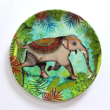 Buy KOLOROBIA SRI Lankan Tropical Rainforest Wildlife Elephant Inspired Home DECOR Wall Plate 75 INCH Online At Low Prices In India