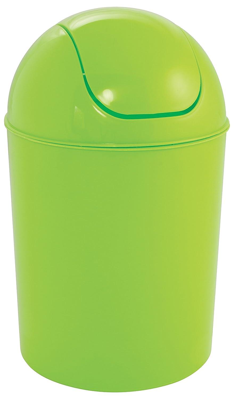 Gelco Design 710564A Swing Bin 5L Plastic, Greenery, 17x 17x 32cm