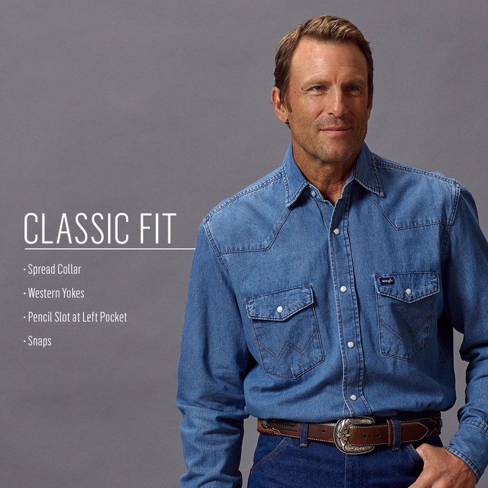 Wrangler Mens Big /& Tall Authentic Cowboy Cut Work Western Shirt