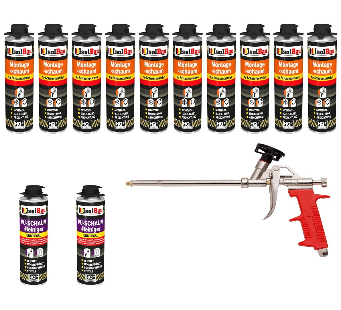Set pistola de espuma 10 Lata 500 Ml Espuma de montaje 1 K Diseño ...