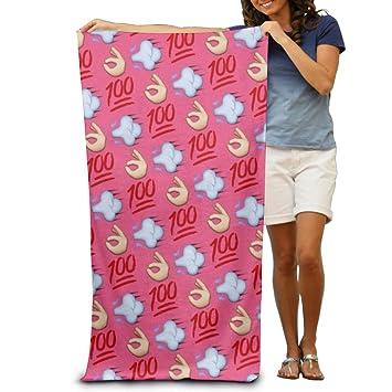 OK Emoji toallas de baño suave lavable a máquina fácil cuidado piscina toalla de secado rápido toalla de viaje multiuso Spa calidad ligero: Amazon.es: Hogar