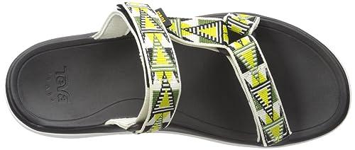 Teva Terra-flotador de la mujer Lexi Slide Sandal, MOSAIC LIME/WHITE, 36 B(M) EU: Amazon.es: Zapatos y complementos