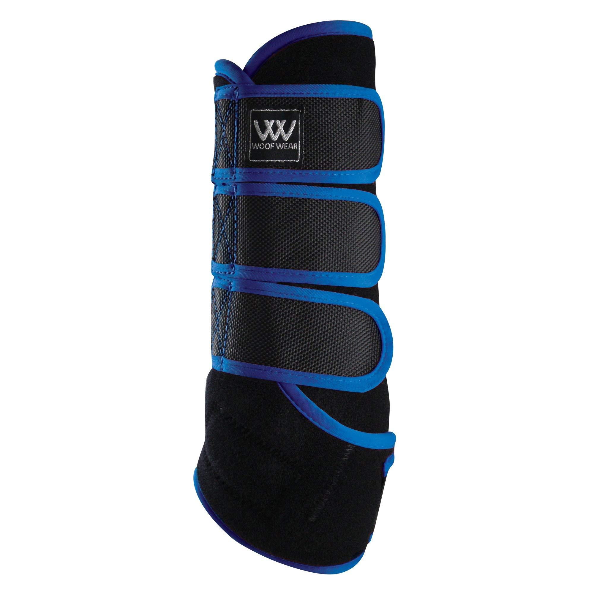 WOOF WEAR Dressage Exercise Wrap X Large Black Electric Blue