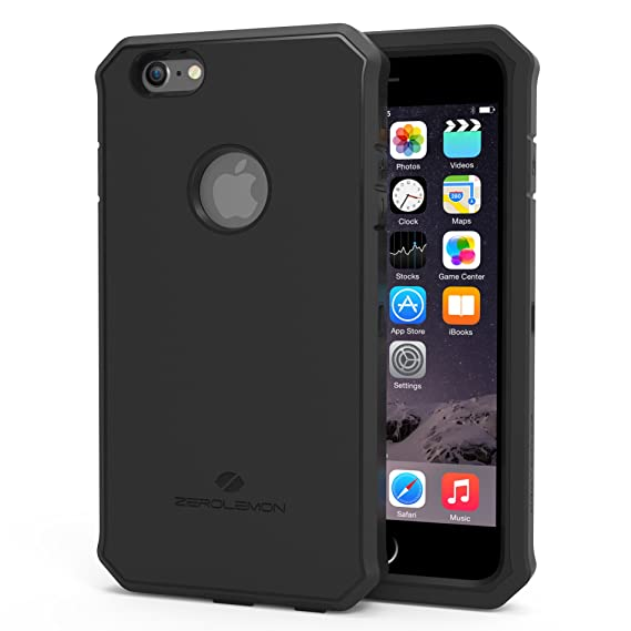 pretty nice 6faa1 4196f iPhone 6S Plus Rugged Case, ZeroLemon Protector Series Rugged Case + PET  Screen Protector for iPhone 6/6s Plus 5.5
