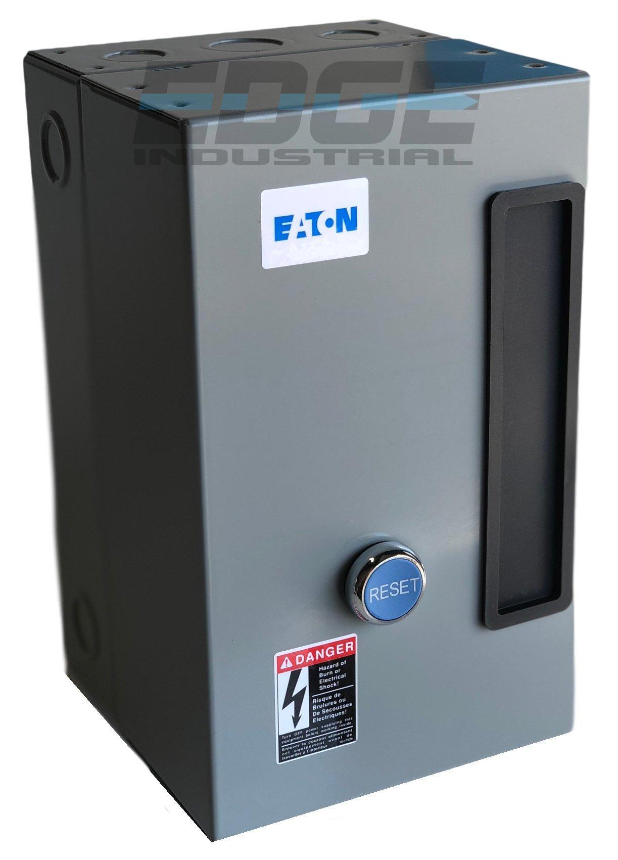 EATON A27CGF45B057 MAGNETIC MOTOR STARTER 15HP 3 PHASE 230 VOLT 45 AMP DEFINITE PURPOSE STARTER CONTROL