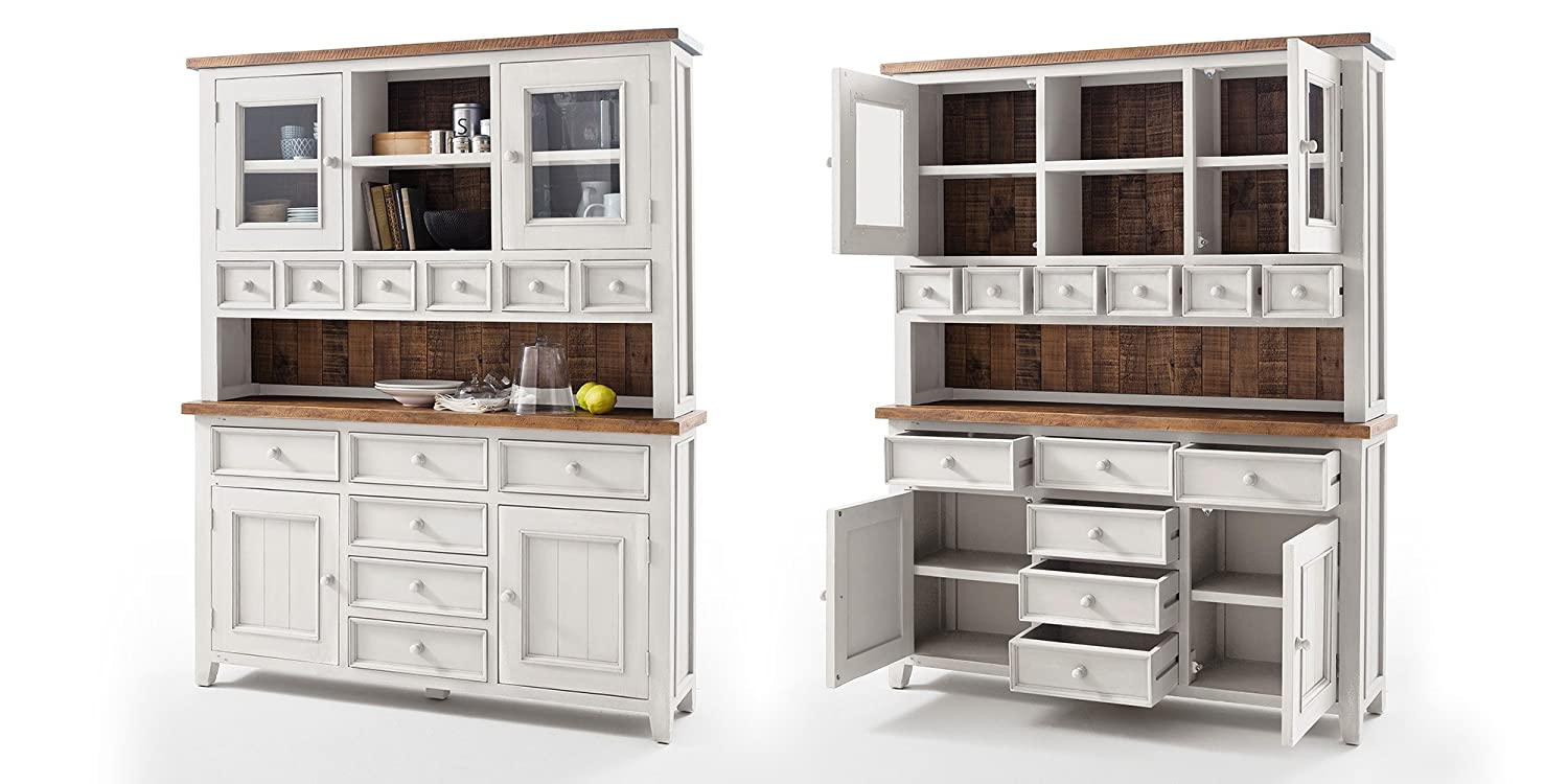 buffet highboard wei holz landhaus byron shabby chic. Black Bedroom Furniture Sets. Home Design Ideas