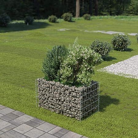 Tidyard Jardinera de Gaviones de Acero de Óxido Resistente a la Intemperie para Jardin o Patio Exterior 90 x 50 x 50 cm Cromado: Amazon.es: Hogar