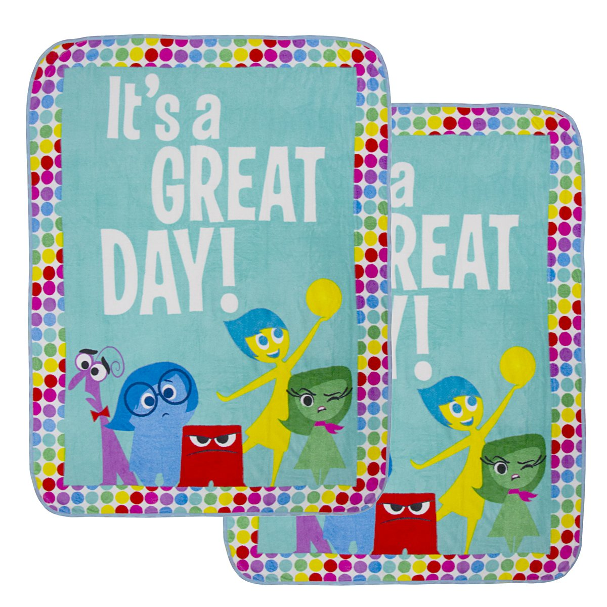 """2 Pack Cozy Inside Out Or The Avengers Soft Fleece 46x60"""" Plush Throw Blankets For Kids Girl Boy Jay Franco & Sons Inc."""
