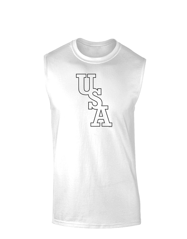 TooLoud USA Text Muscle Shirt