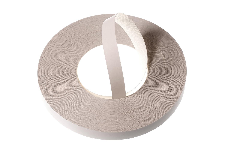 White Melamine Veneer Edging / Veneer Edge Banding Tape (22mm width x 50m length) - Superior Grade Pre-Glued DIY Iron-On (Hotmelt) Veneer Edging Rolls WoodPress